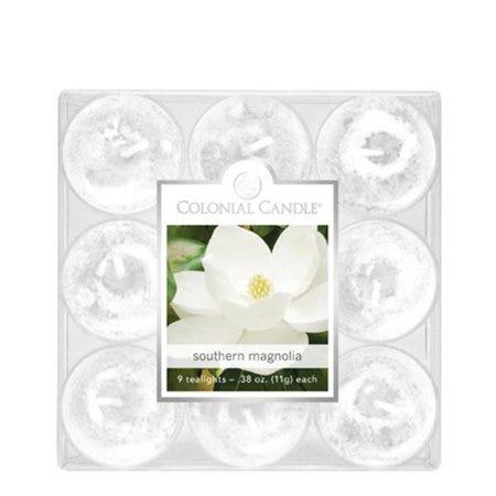 Vela de té Colonial Candle® Southern Magnolia, Set de 9 pzas.