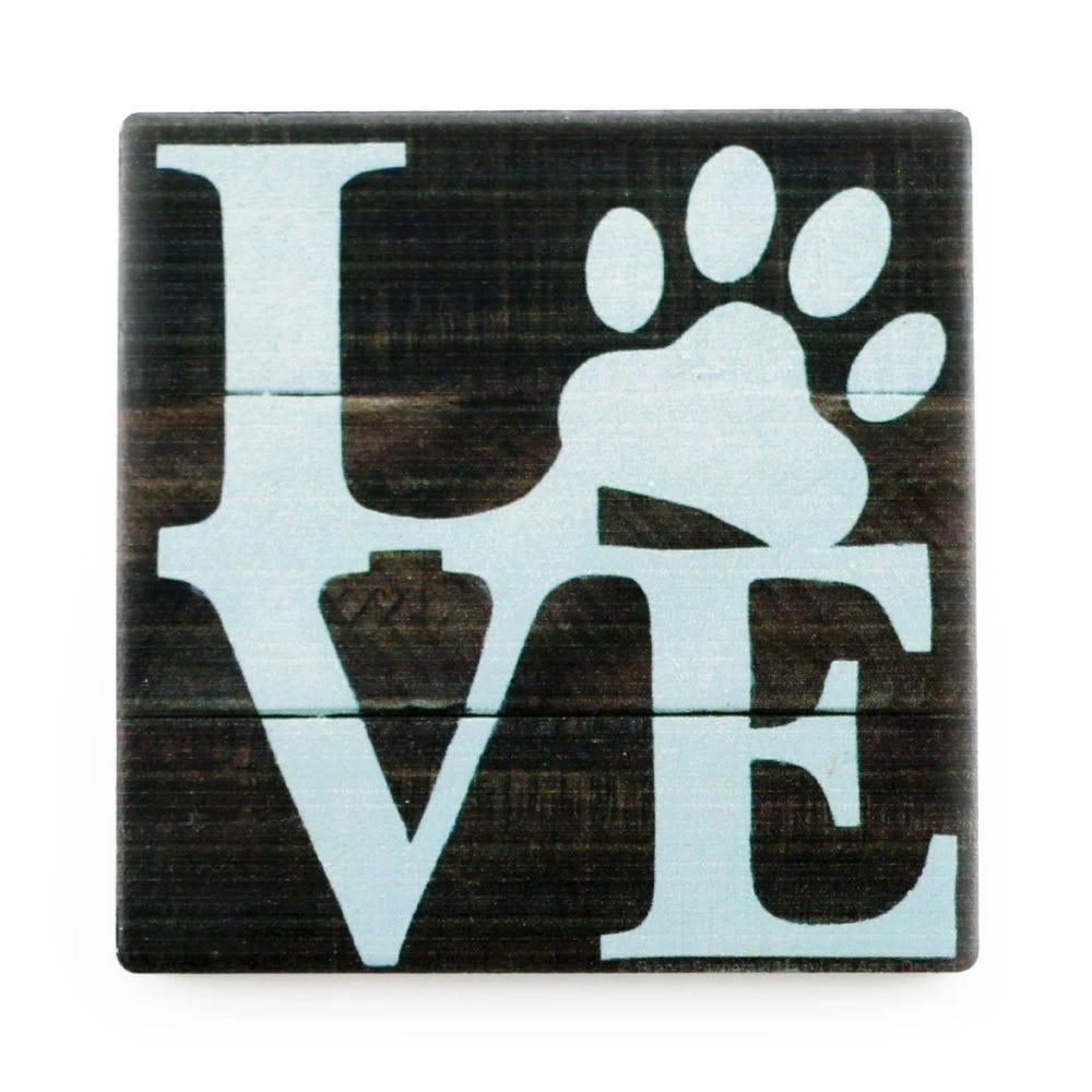 Portavasos Love Pets en azul