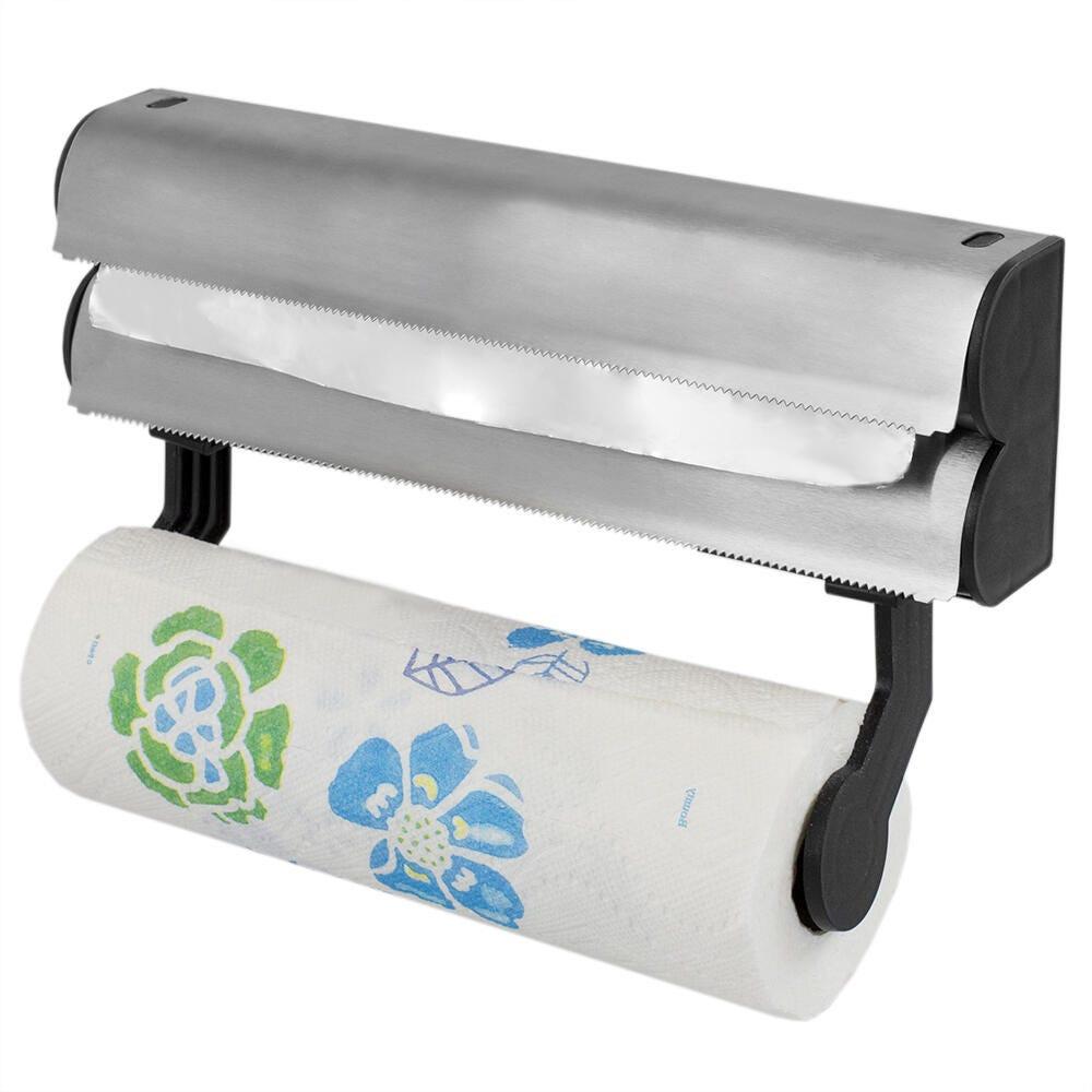 Dispensador de papel de acero inoxidable Frigidaire 3 en 1 para pared