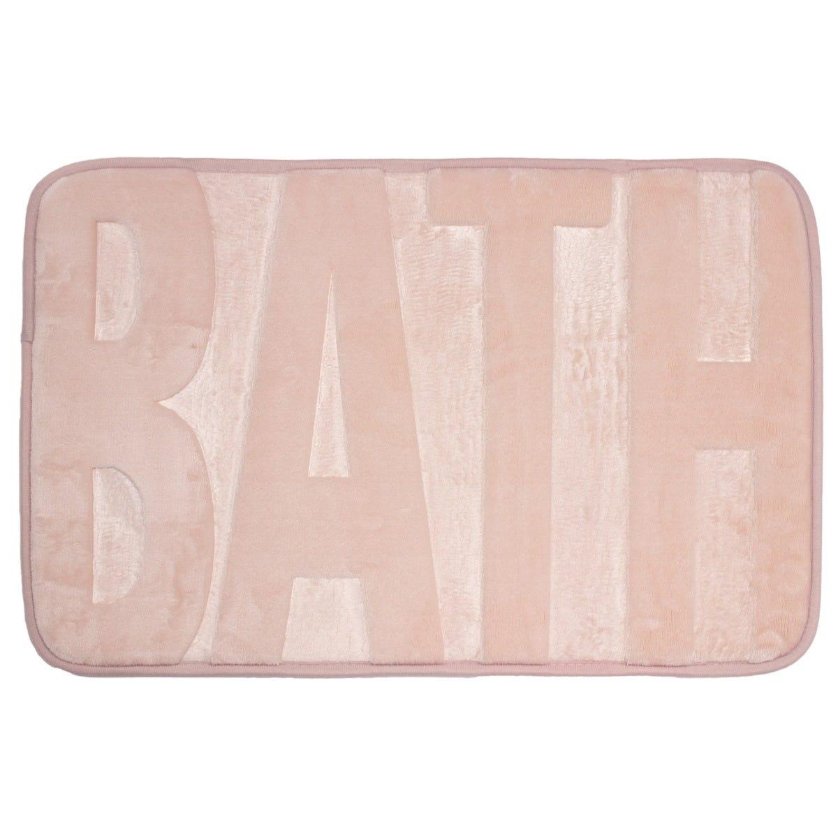 Bath Tapete para baño de memory foam en rosa