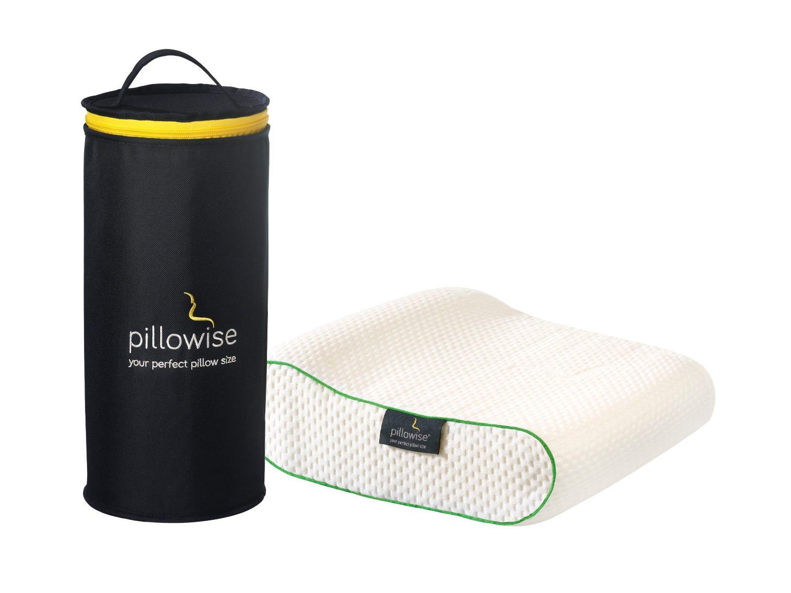Almohada de viaje Pillowise® en verde
