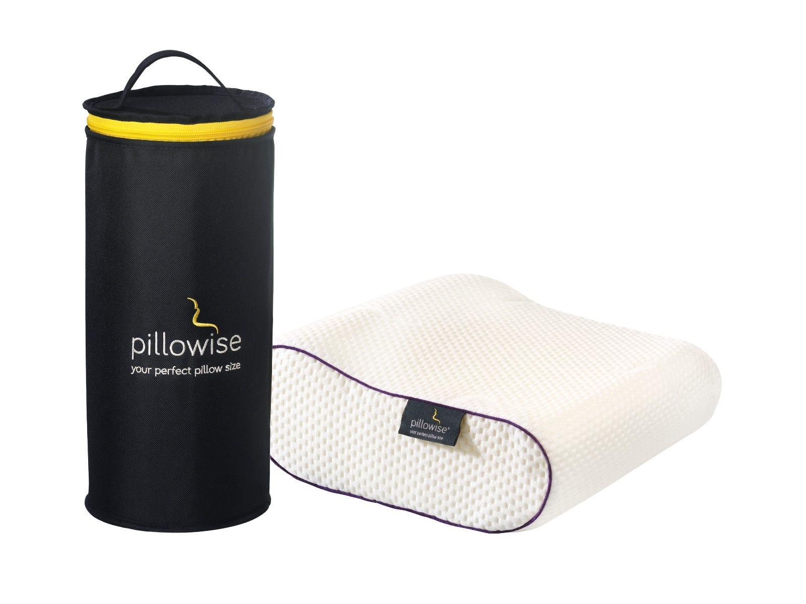 Almohada de viaje Pillowise® en morado