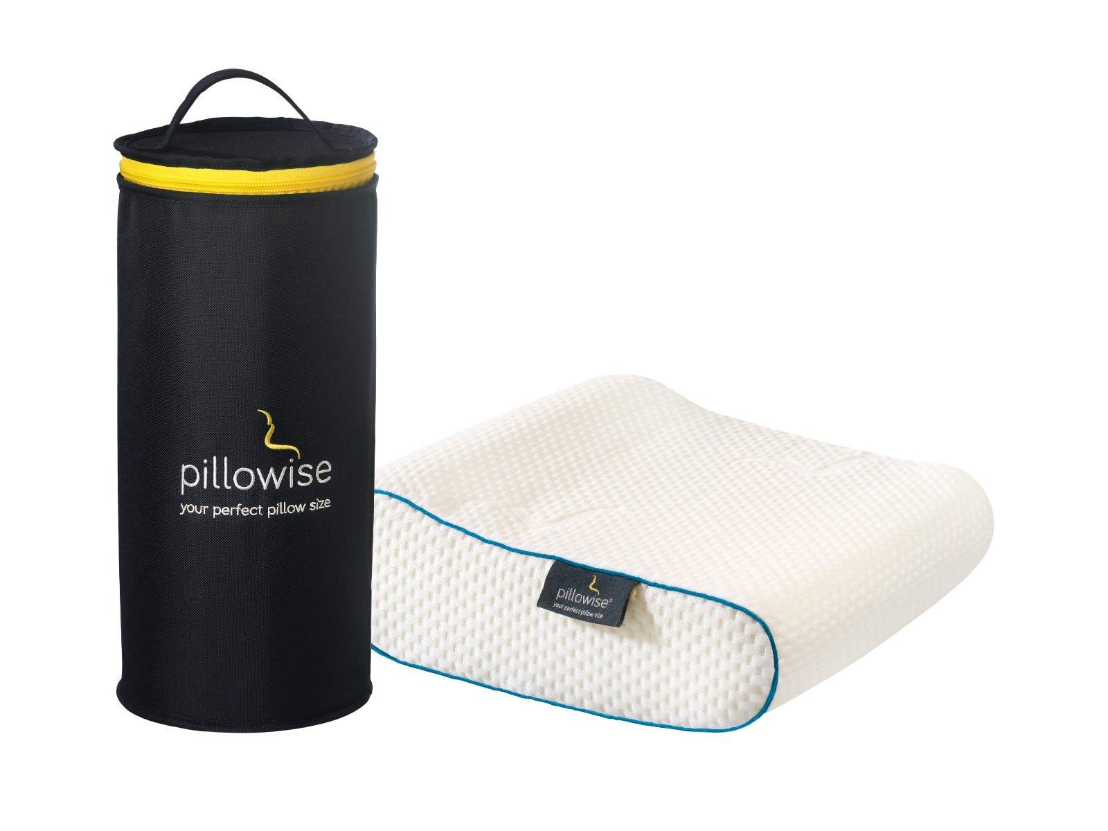 Almohada de viaje Pillowise® en azul