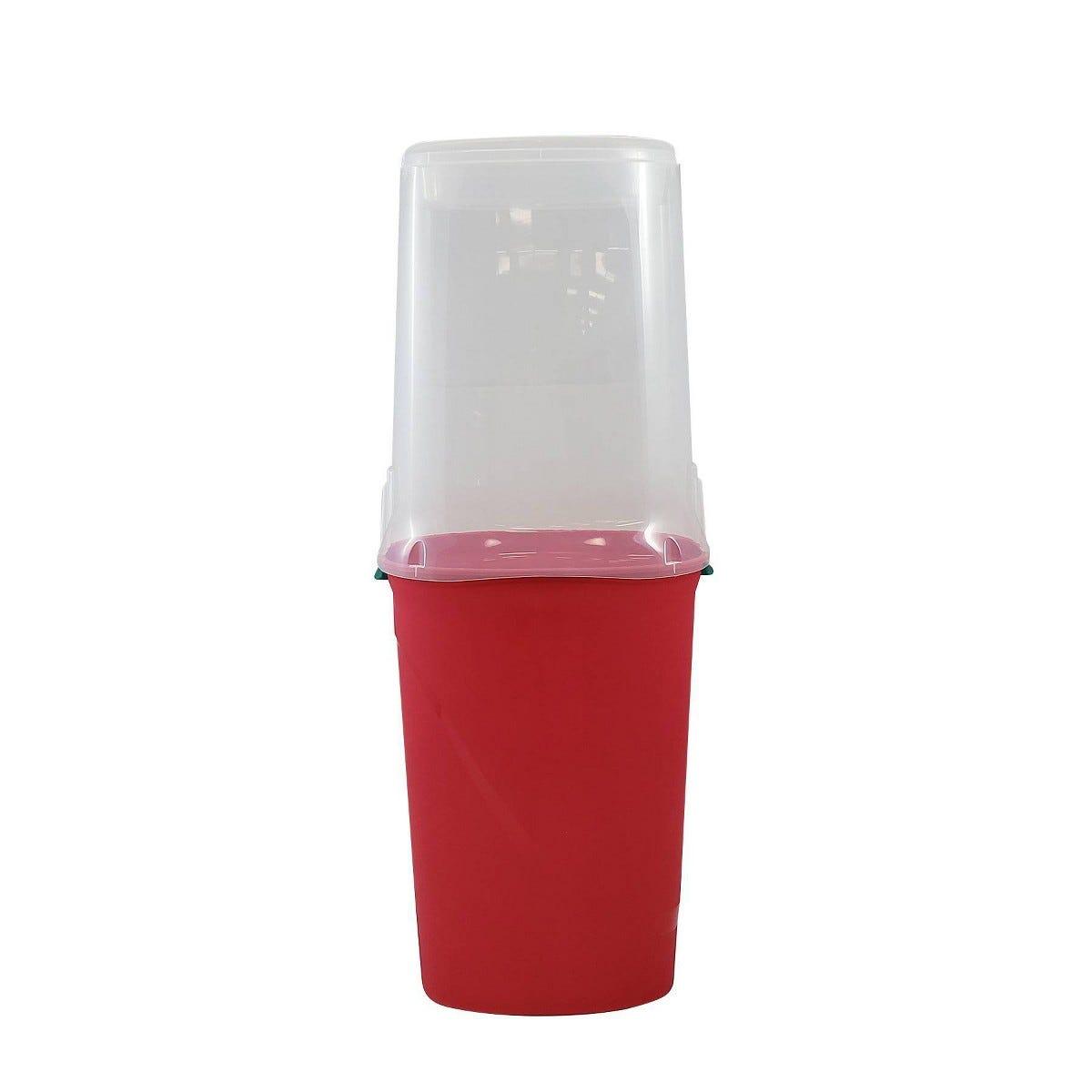Caja de almacenamiento para envolturas de regalo Homz de 1.01 m en rojo/transparente