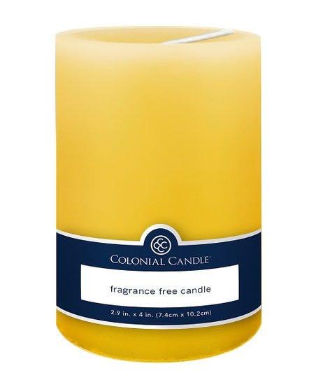 Vela pilar Colonial Candle® aroma azafrán de 8 x 11 cm