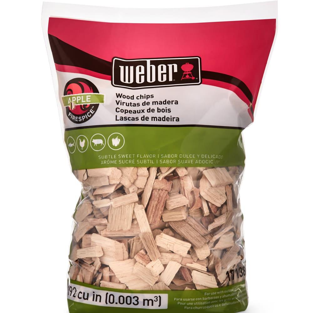 Astillas de madera de manzano Weber® para asador