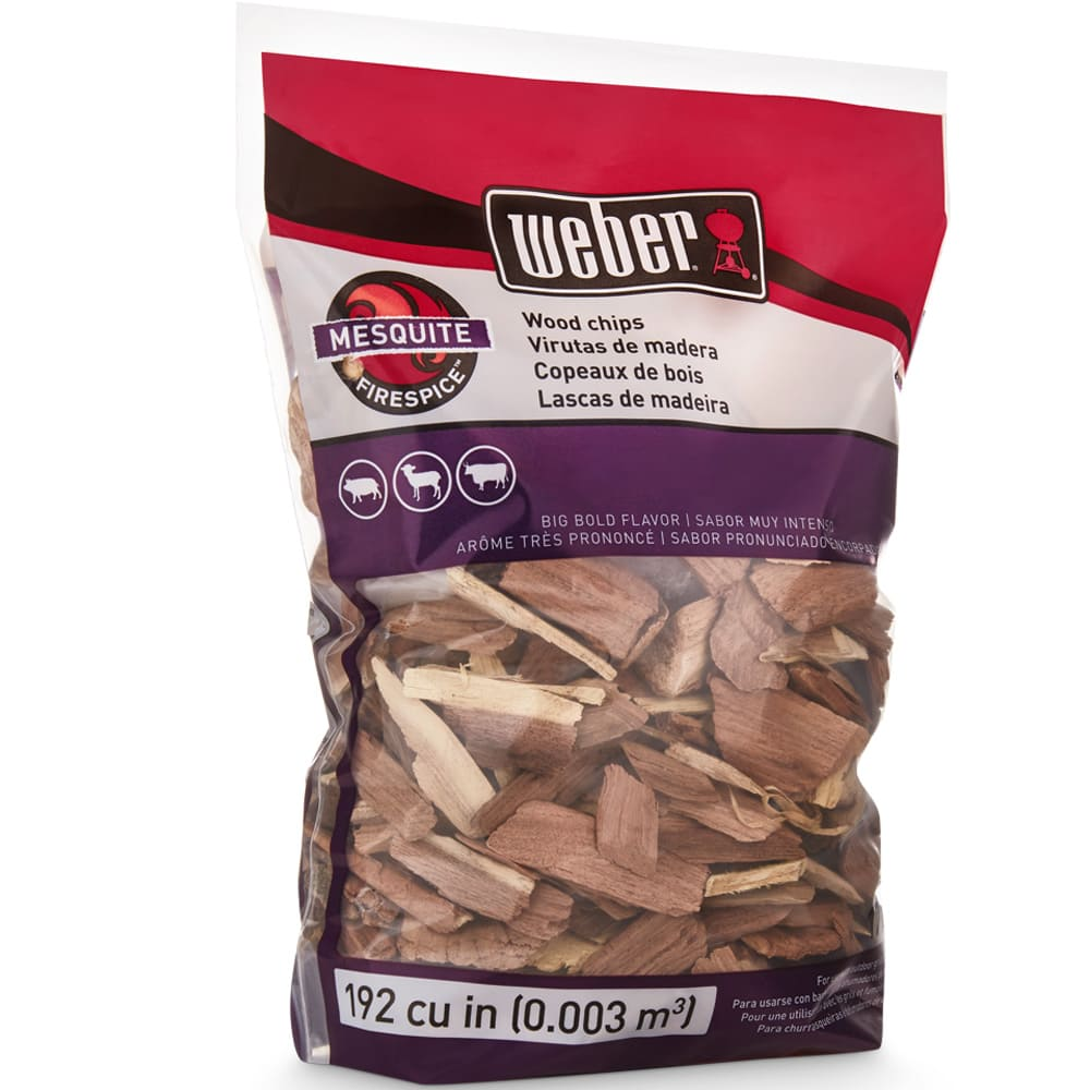 Astillas de madera de mezquite Weber® para asador