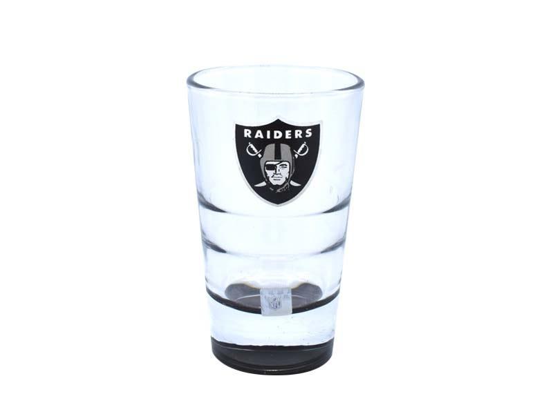 Vasos tequileros NFL Las Vegas Raiders, Set de 4