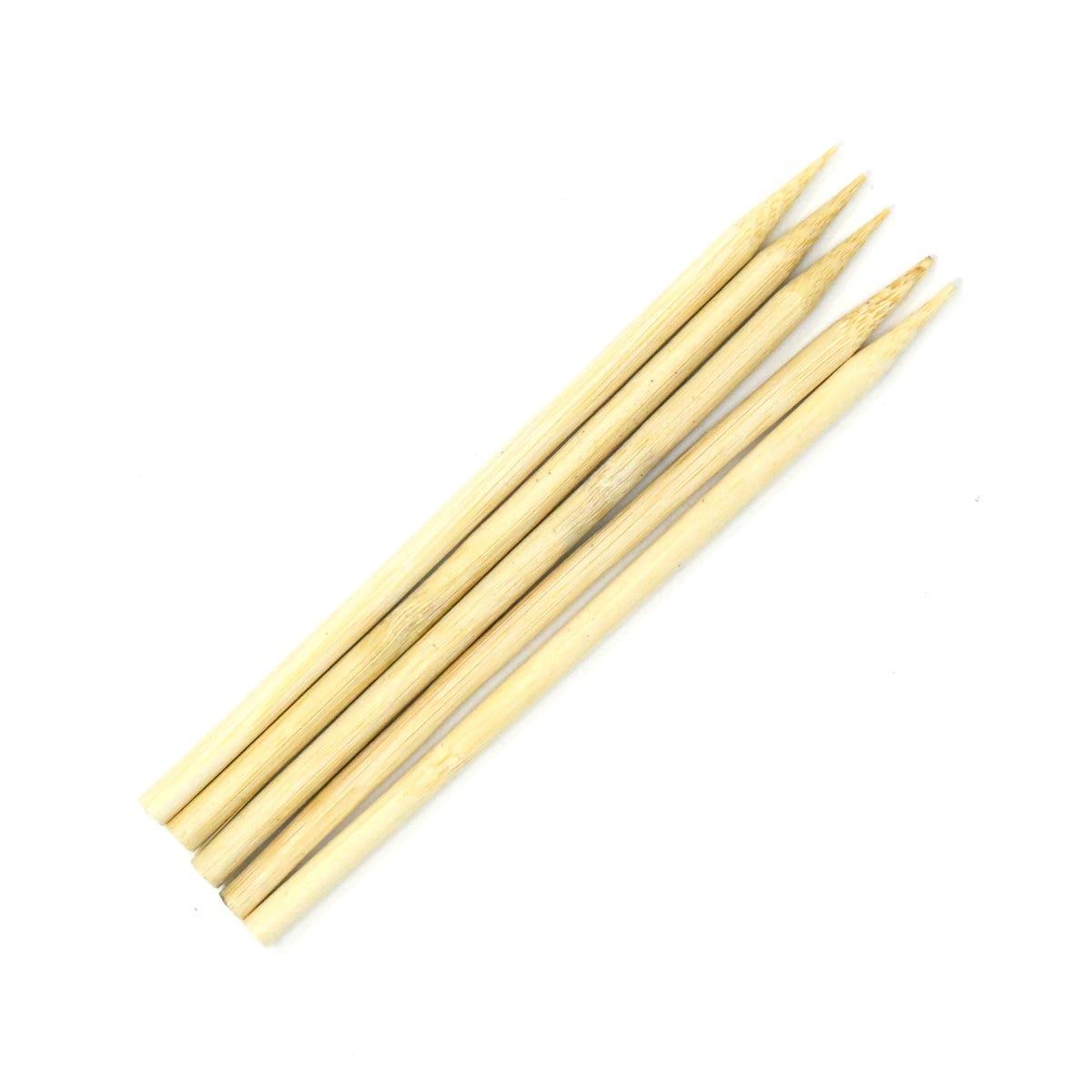 Brochetas de bambú de 15.24 cm