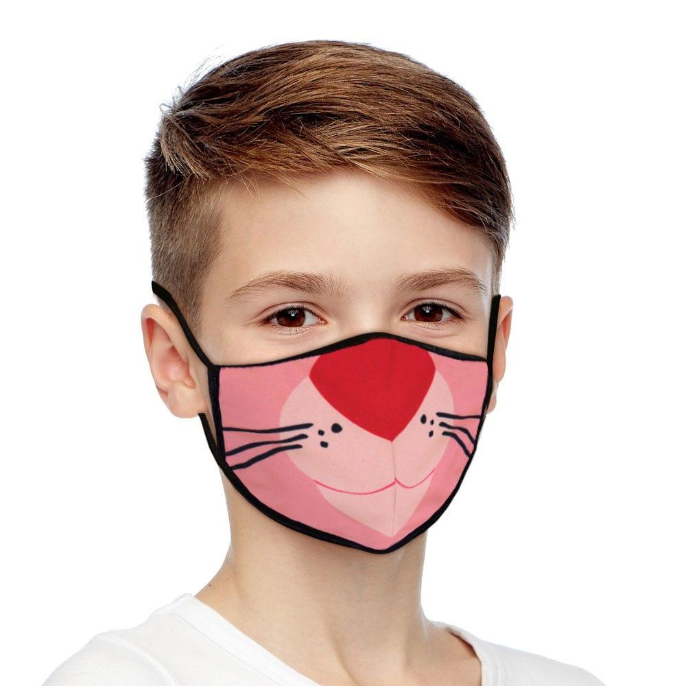 Cubrebocas infantil Blink® con diseño de la Pantera Rosa