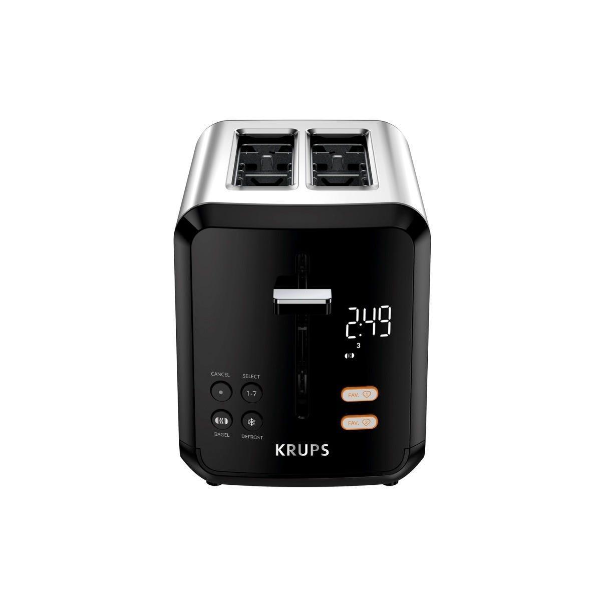 Tostador digital Krups® para 2 rebanadas en negro
