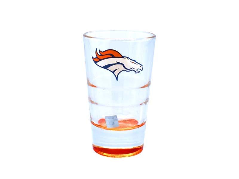 Vasos tequileros NFL Denver Broncos, Set de 4