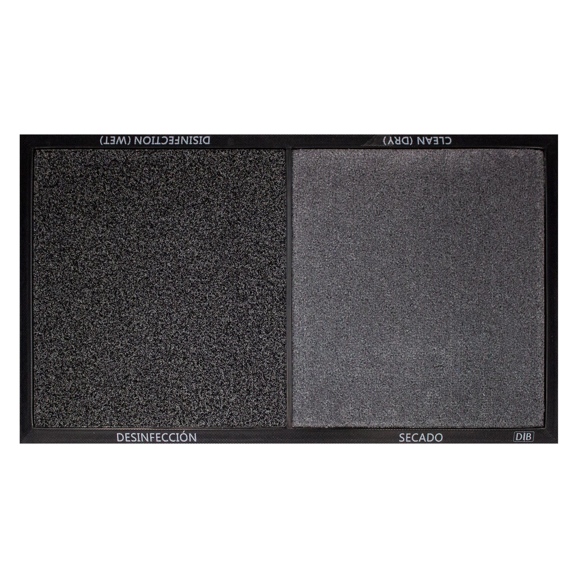 Tapete desinfectante DIB de 48 x 80 cm en negro/gris