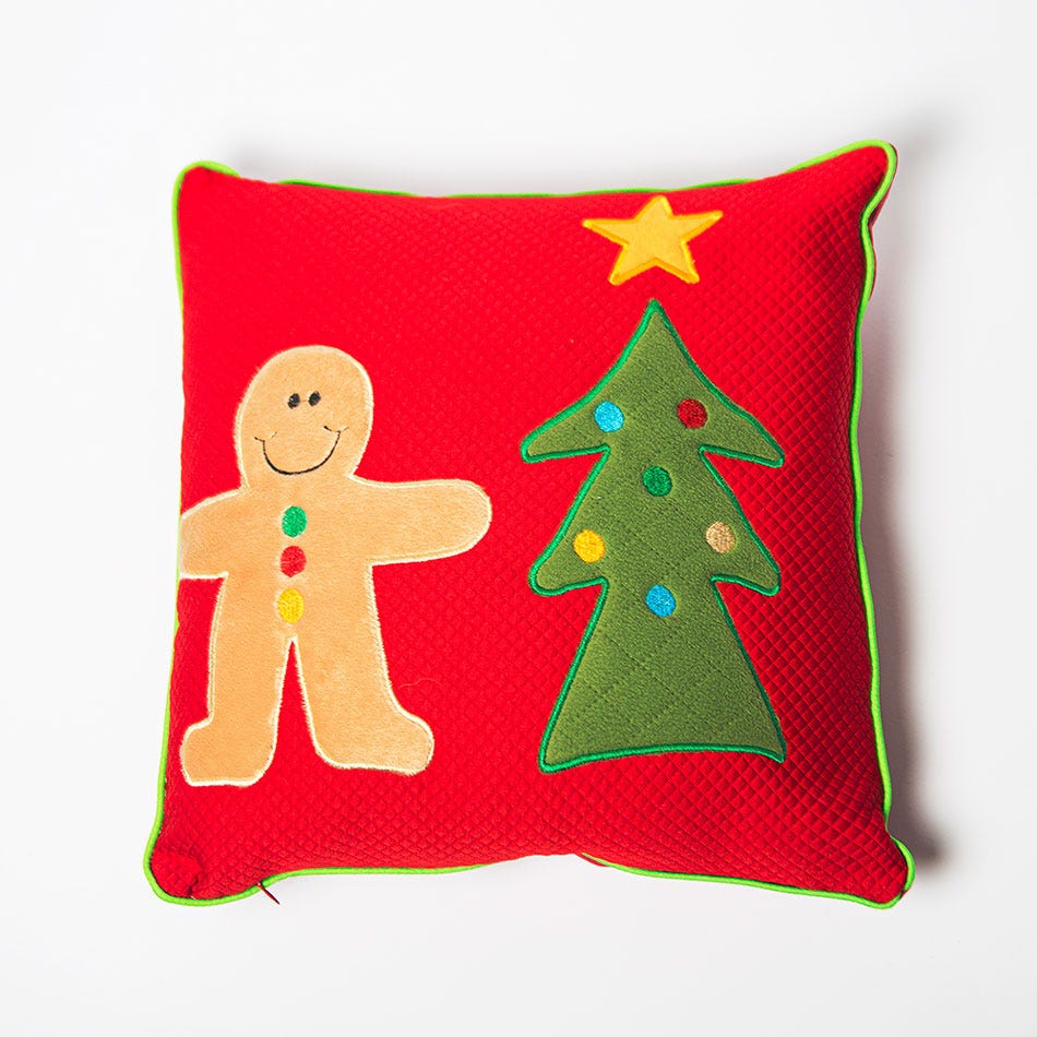 Cojín navideño de poliéster BARTTOLA Ginger Party chico