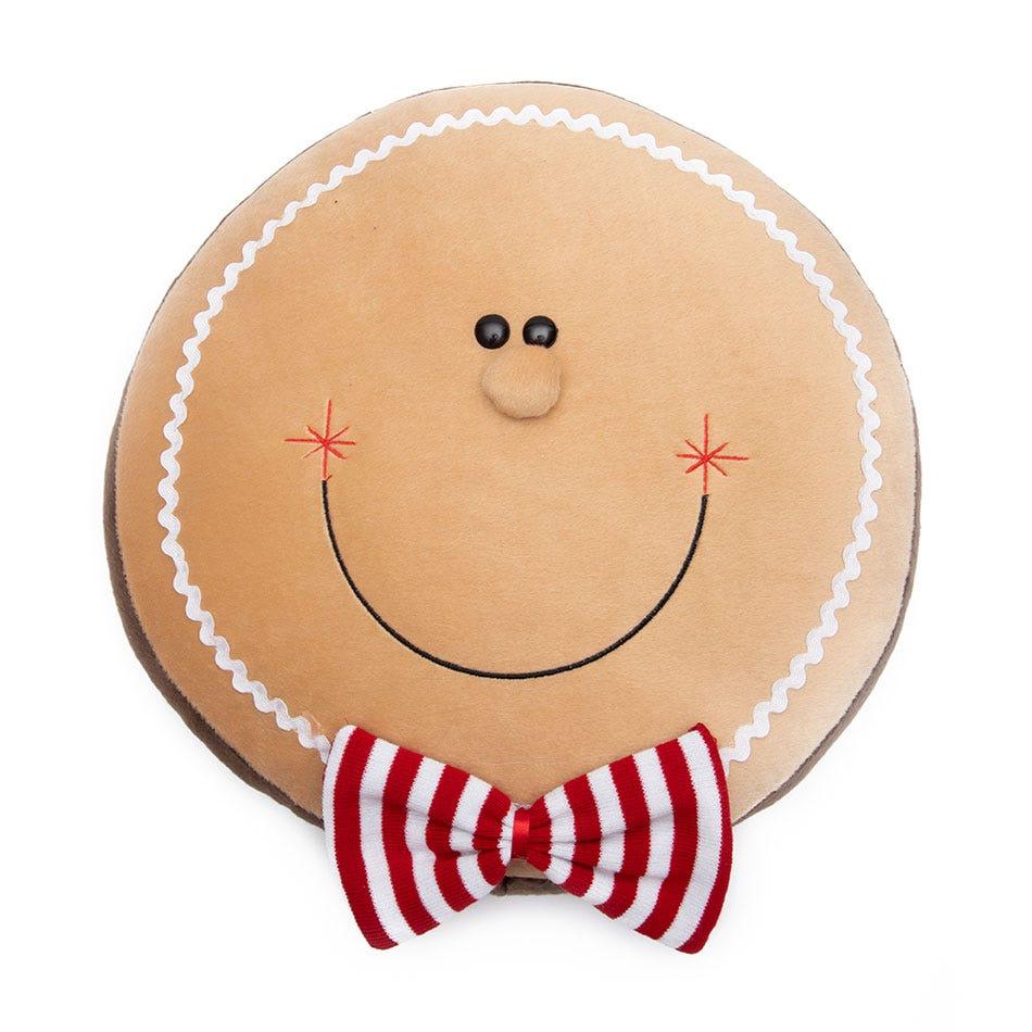 Cojín navideño de poliéster BARTTOLA con cara de muñeco de jengibre