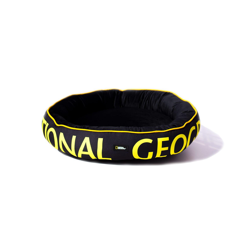 Cama para mascota National Geographic® Apolo mediana en negro