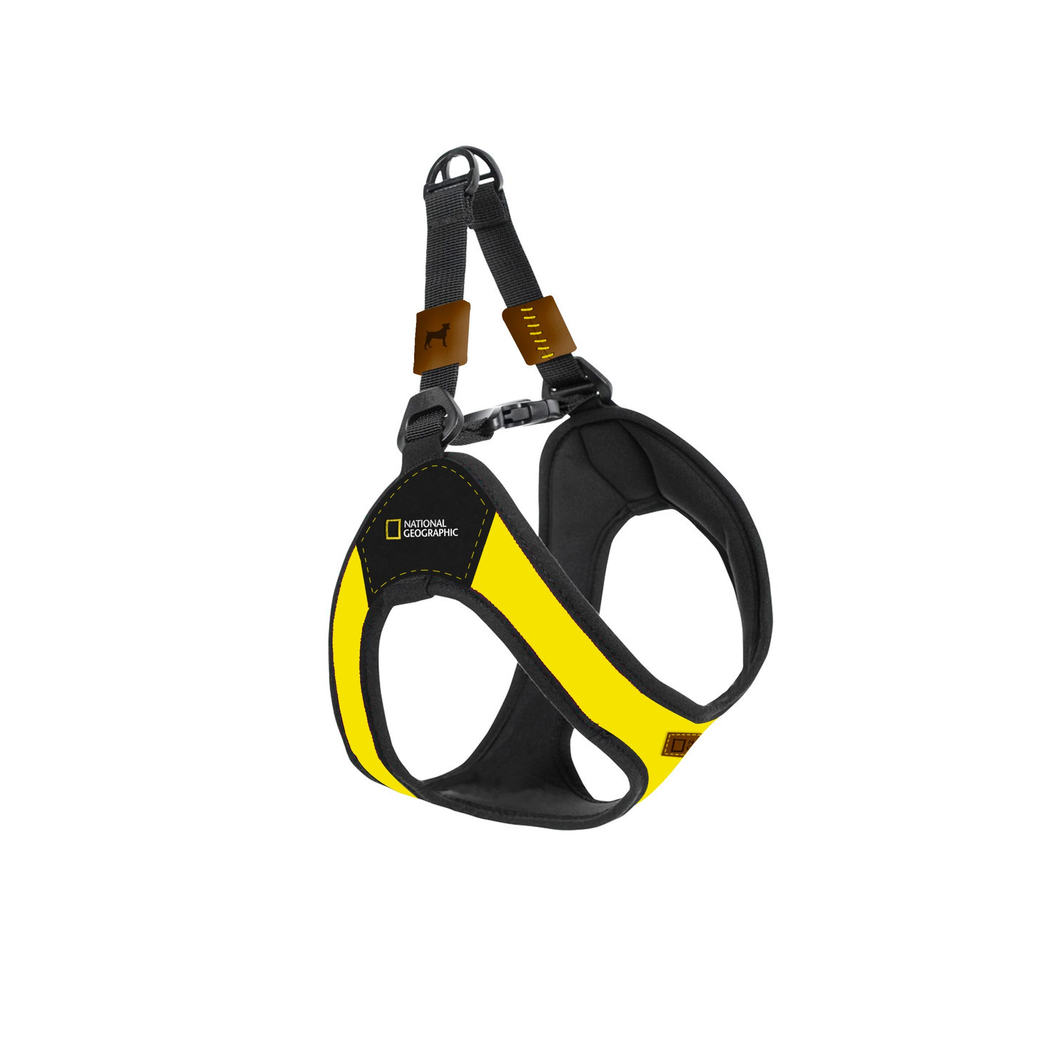 Pechera National Geographic® Bolt grande en amarillo