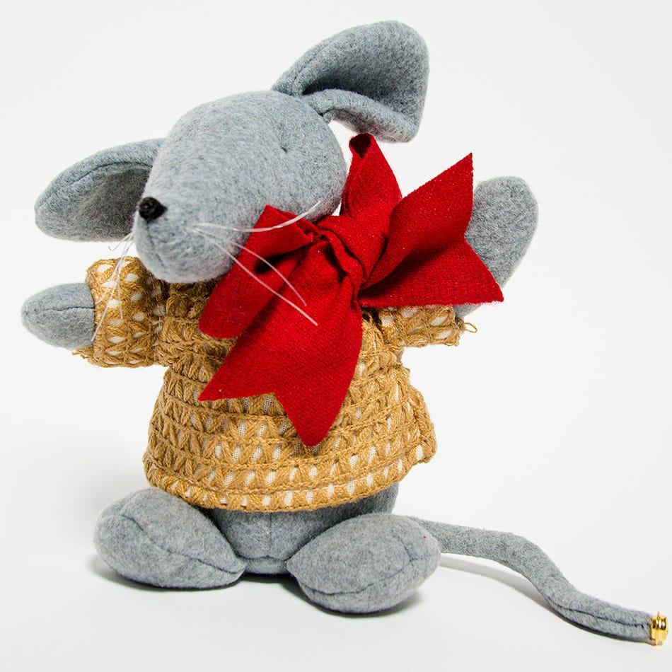 Ratón de tela para árbol de Navidad
