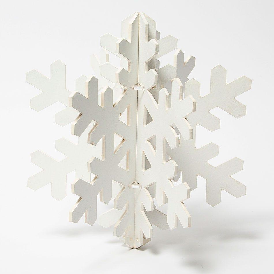 Copo de nieve decorativo BARTTOLA 3D chico en blanco