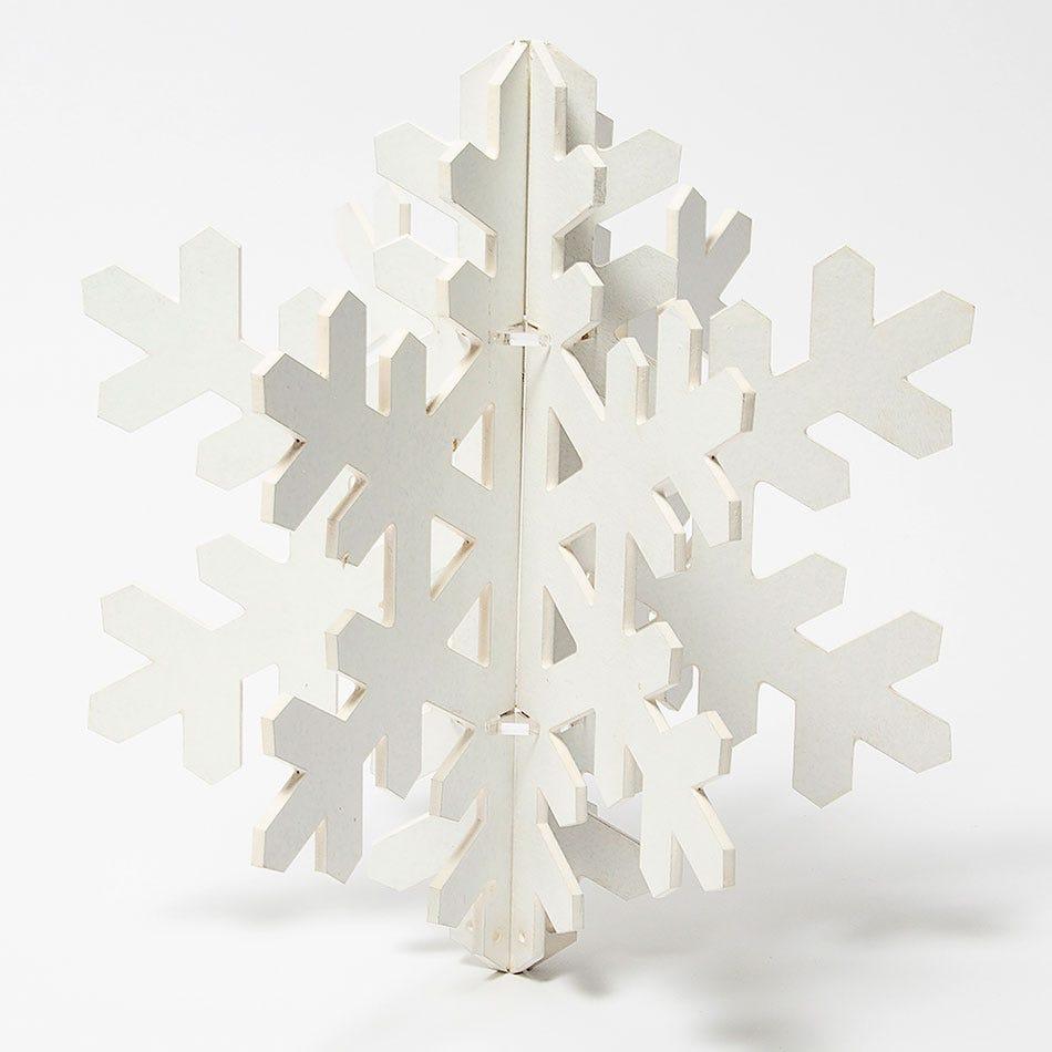 Copo de nieve decorativo BARTTOLA 3D grande en blanco