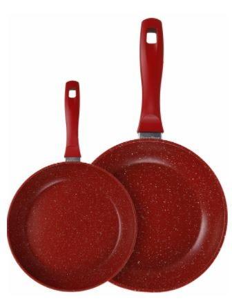 Sartenes FlavorStone® en rojo, Set de 2