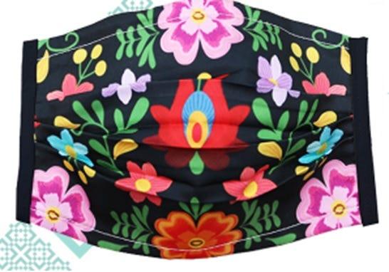 Cubrebocas para dama Karaniart® con diseño de flores