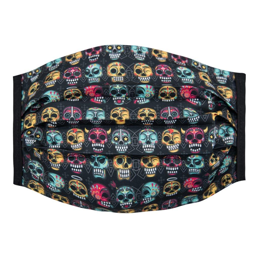 Cubrebocas para caballero Karaniart® con diseño de calaveras