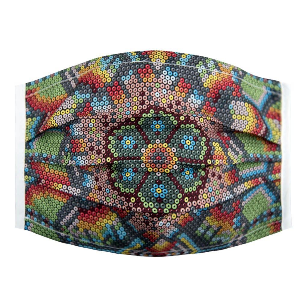 Cubrebocas para dama Karaniart® con diseño de figuras