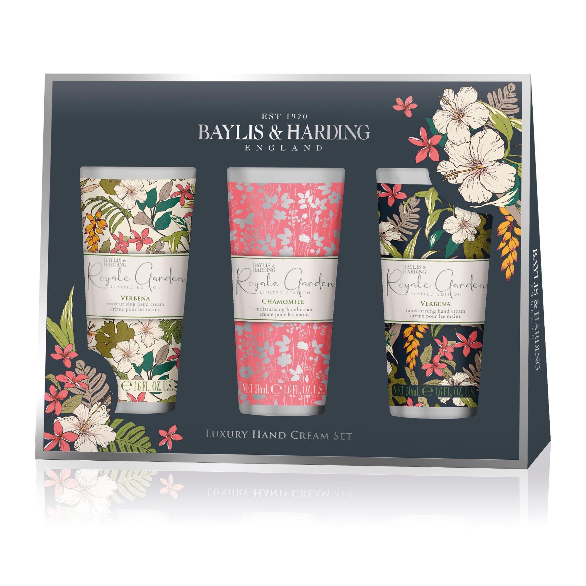 Cremas para manos Baylis & Harding aroma floral, Set de 3