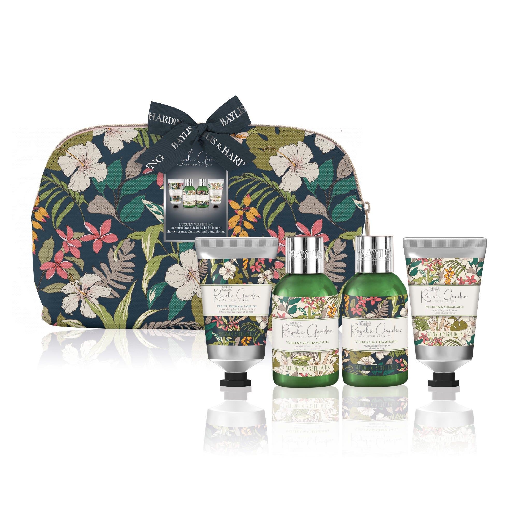 Set de cuidado de la piel Baylis & Harding con estuche para mujer aroma floral, 5 piezas