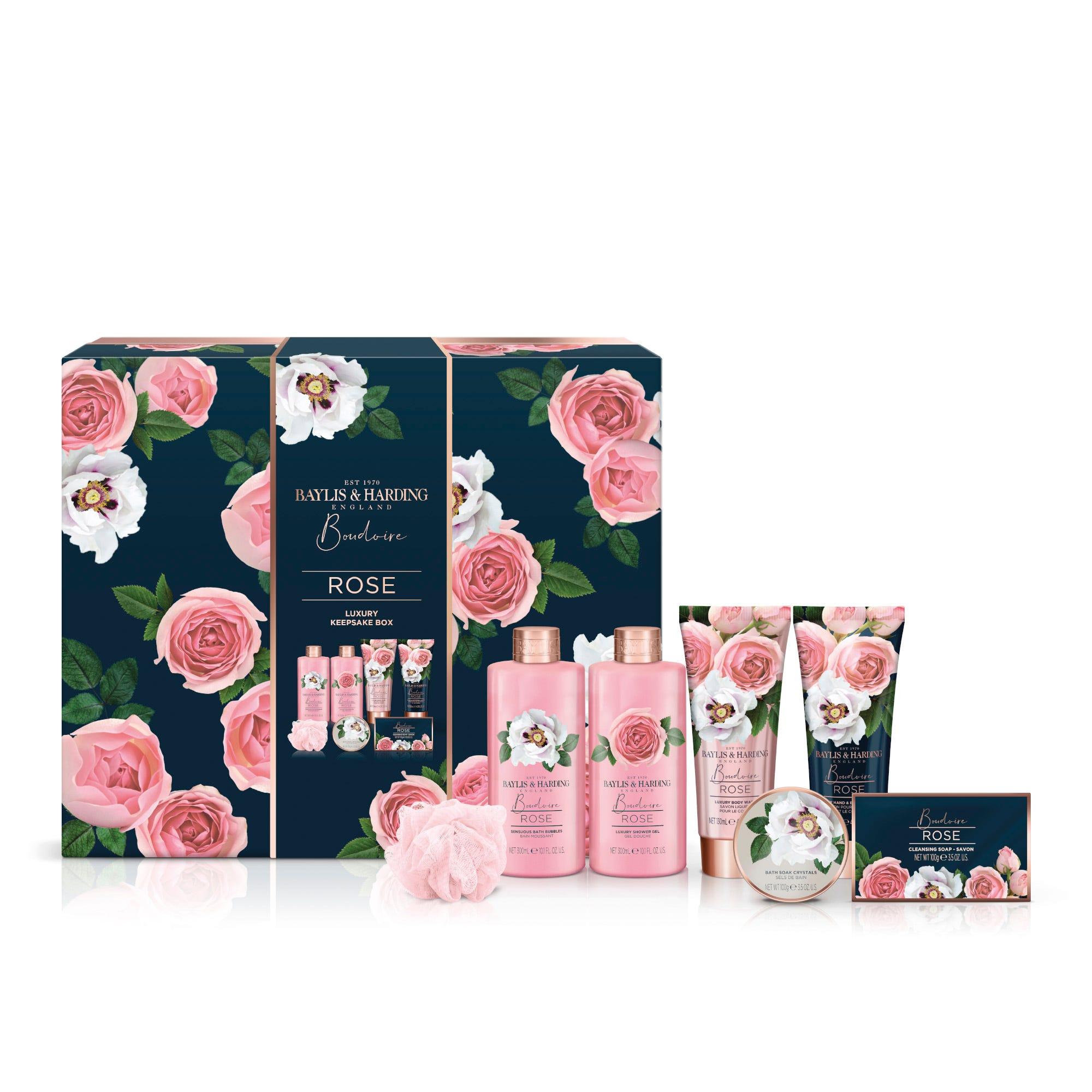 Set de cuidado de la piel Baylis & Harding aroma rosas, 7 piezas