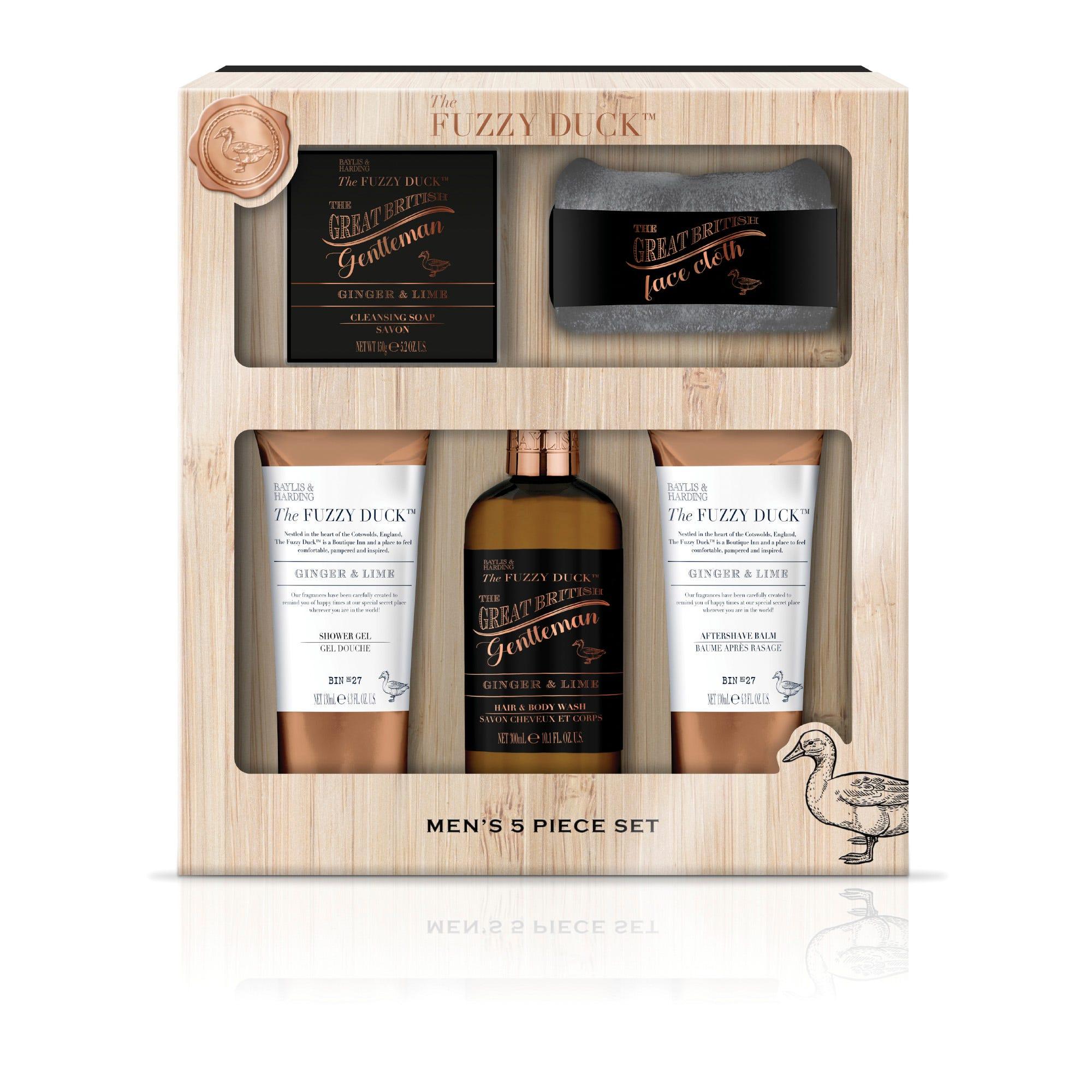 Set de cuidado de la piel Baylis & Harding para hombre aroma jengibre y limón, 5 piezas