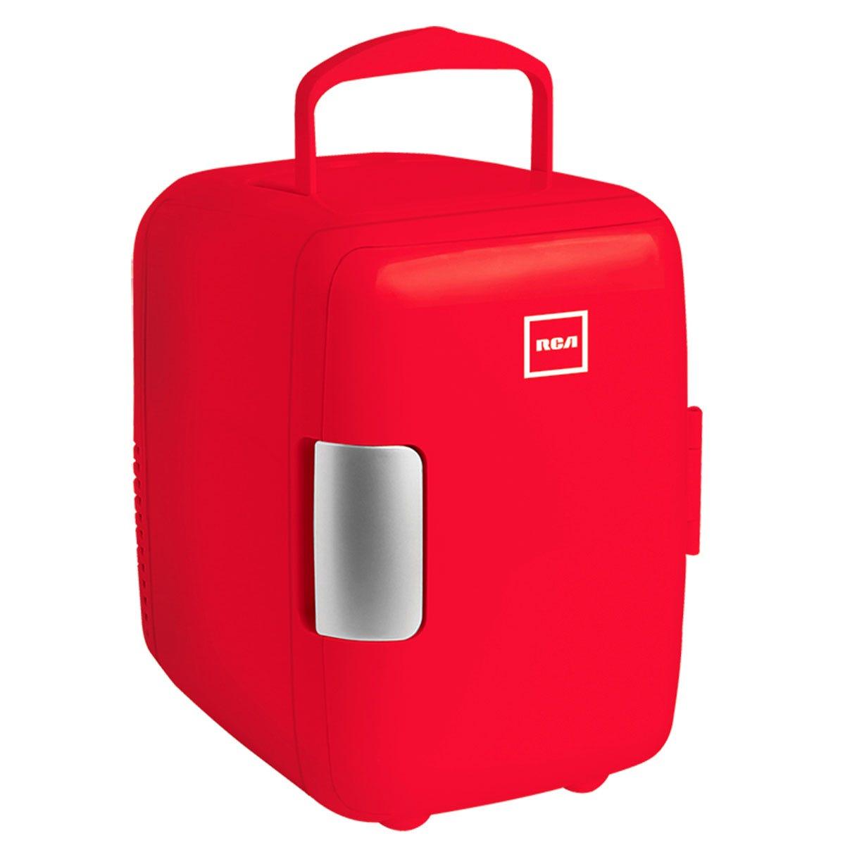 Mini refrigerador RCA en rojo