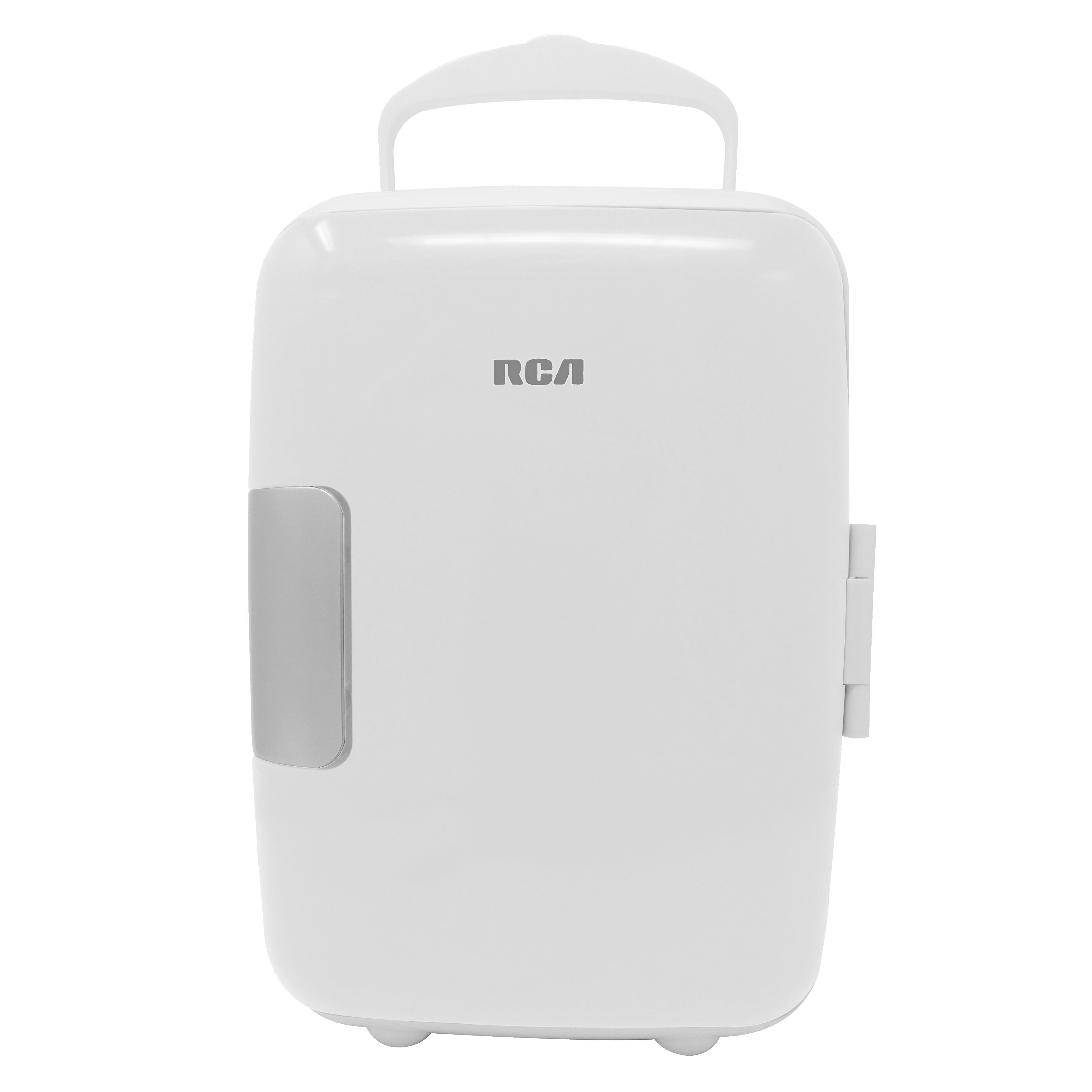 Mini refrigerador RCA en blanco