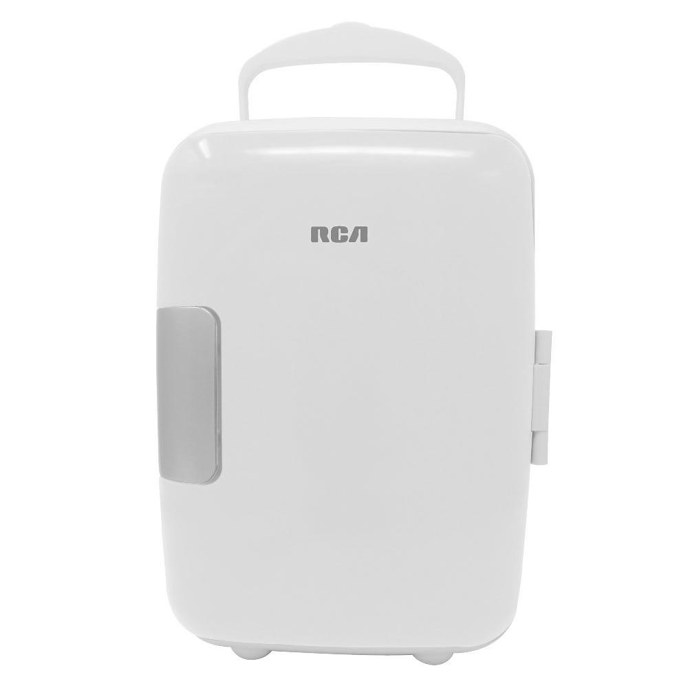 Mini refrigerador RCA color blanco