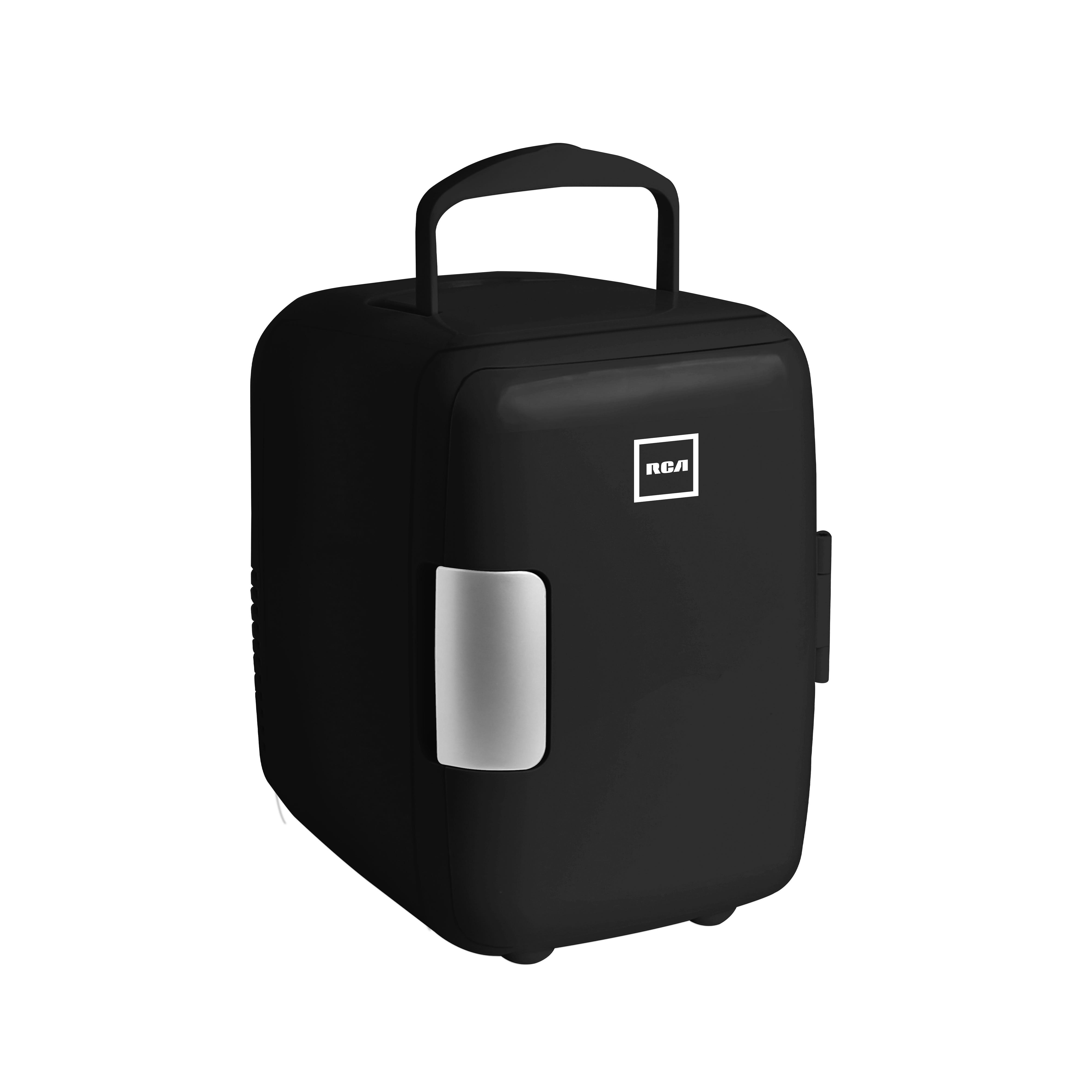Mini refrigerador RCA en negro