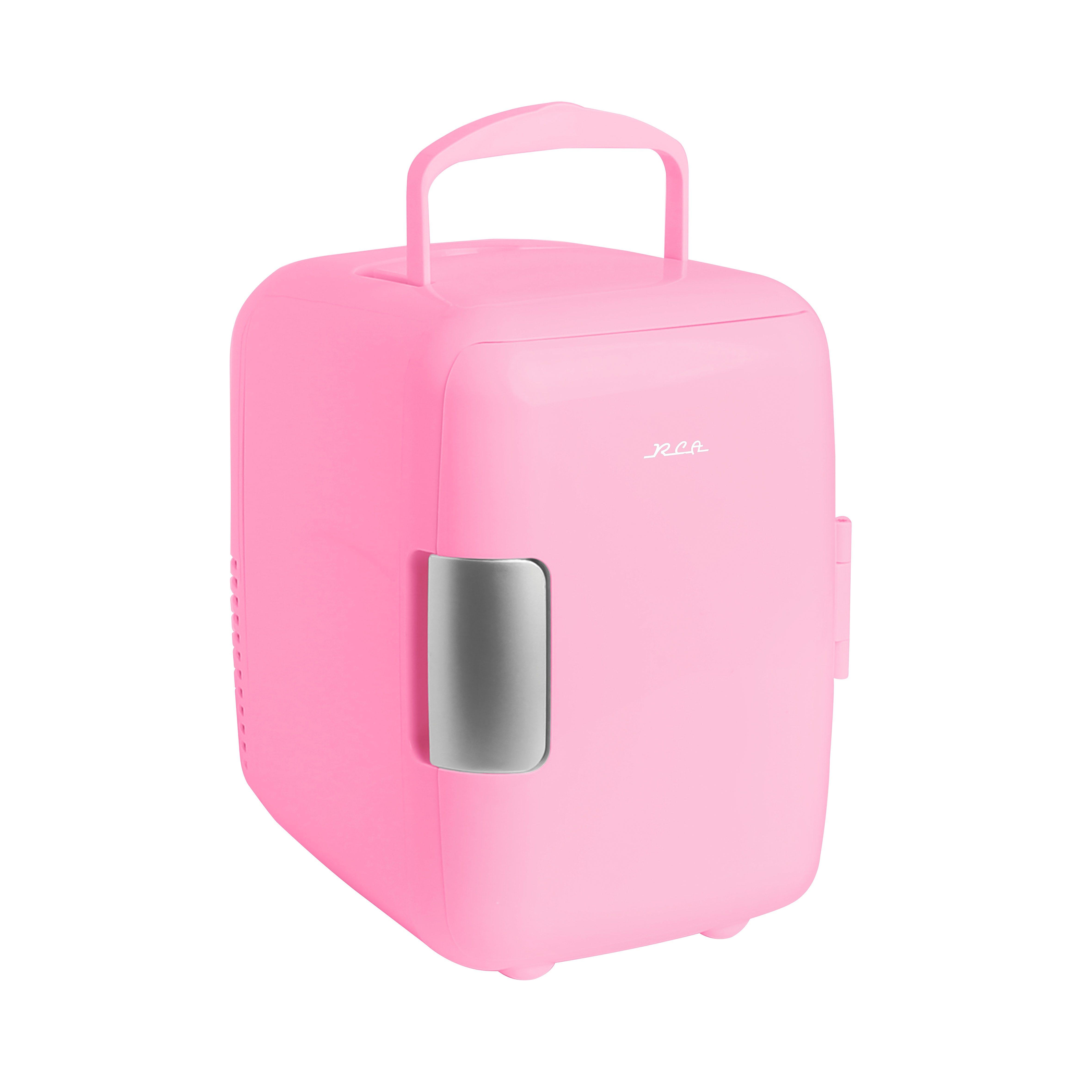 Mini refrigerador RCA® en rosa