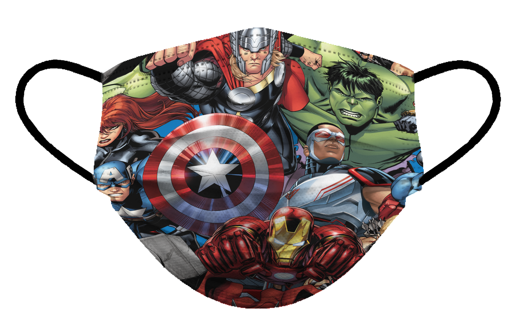 Cubrebocas infantil Biomsk® con diseño de los Vengadores