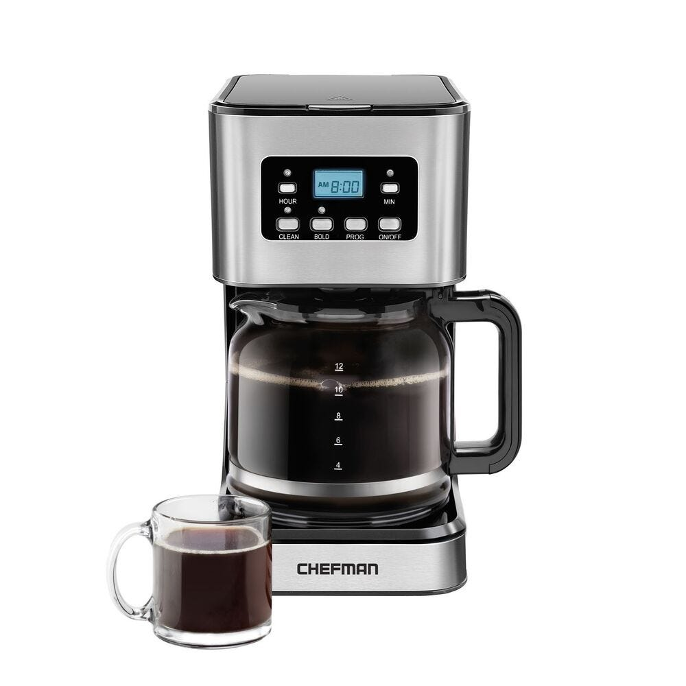 Cafetera Chefman® con reloj