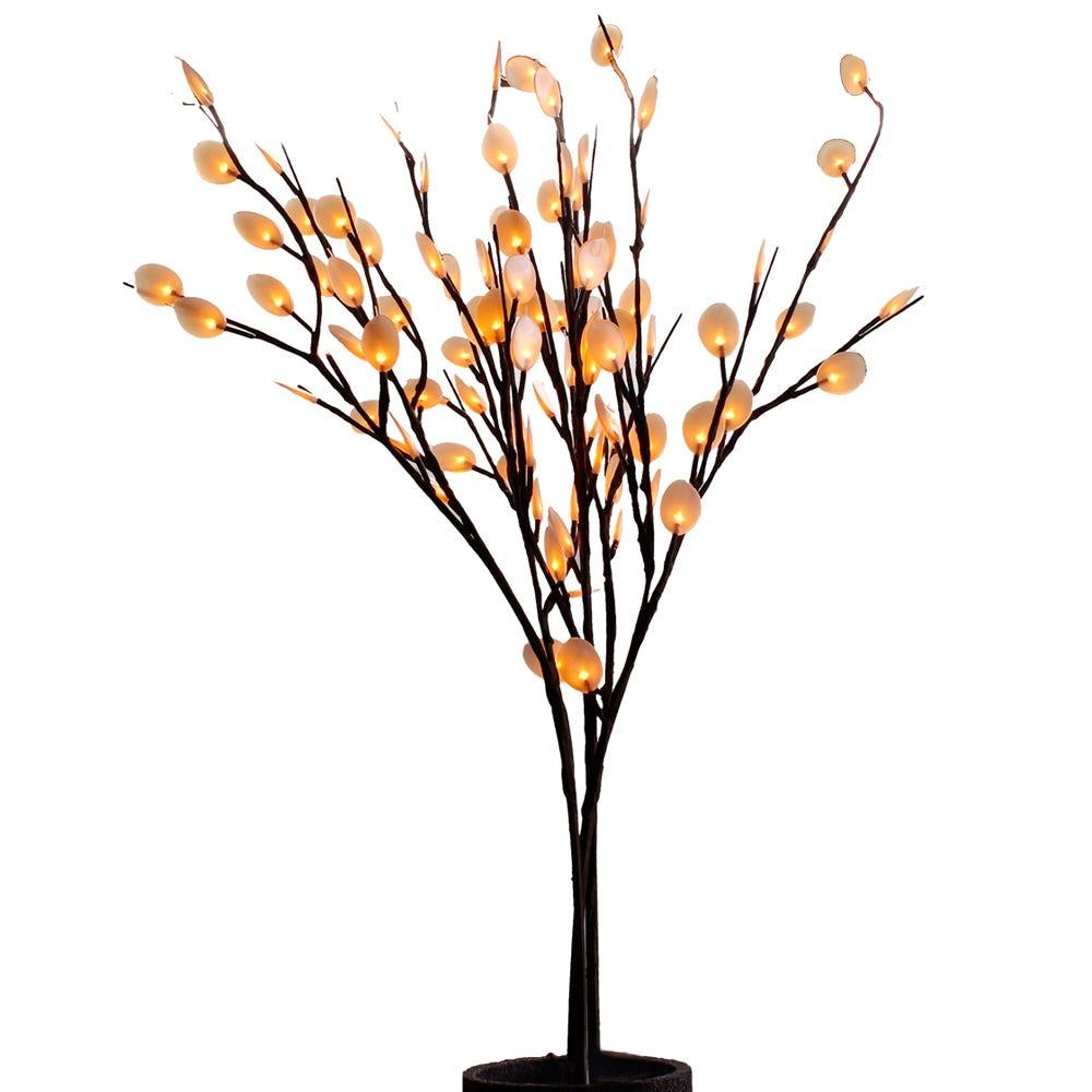 Lámpara de flor LED Running® con hojuelas de plata
