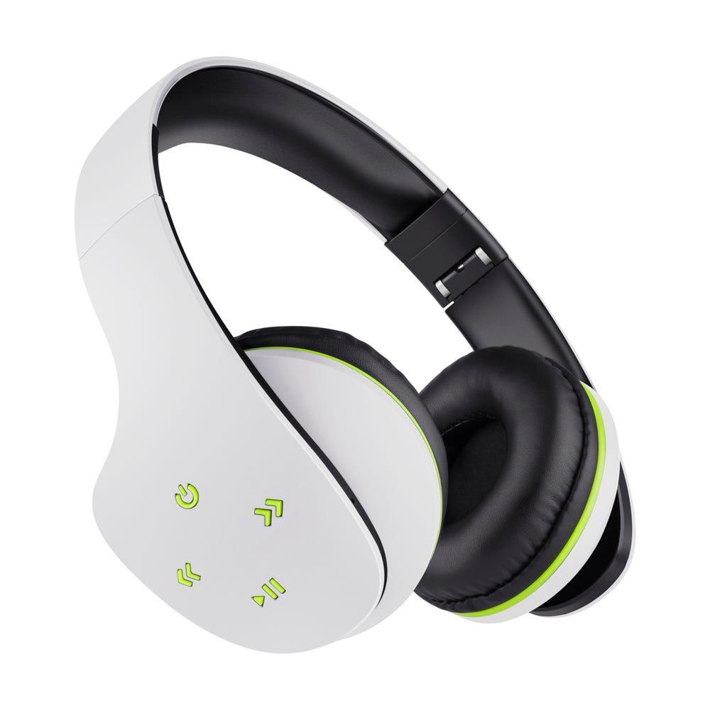 Audífonos inalámbricos de plástico Steren® Ultra Confort color blanco