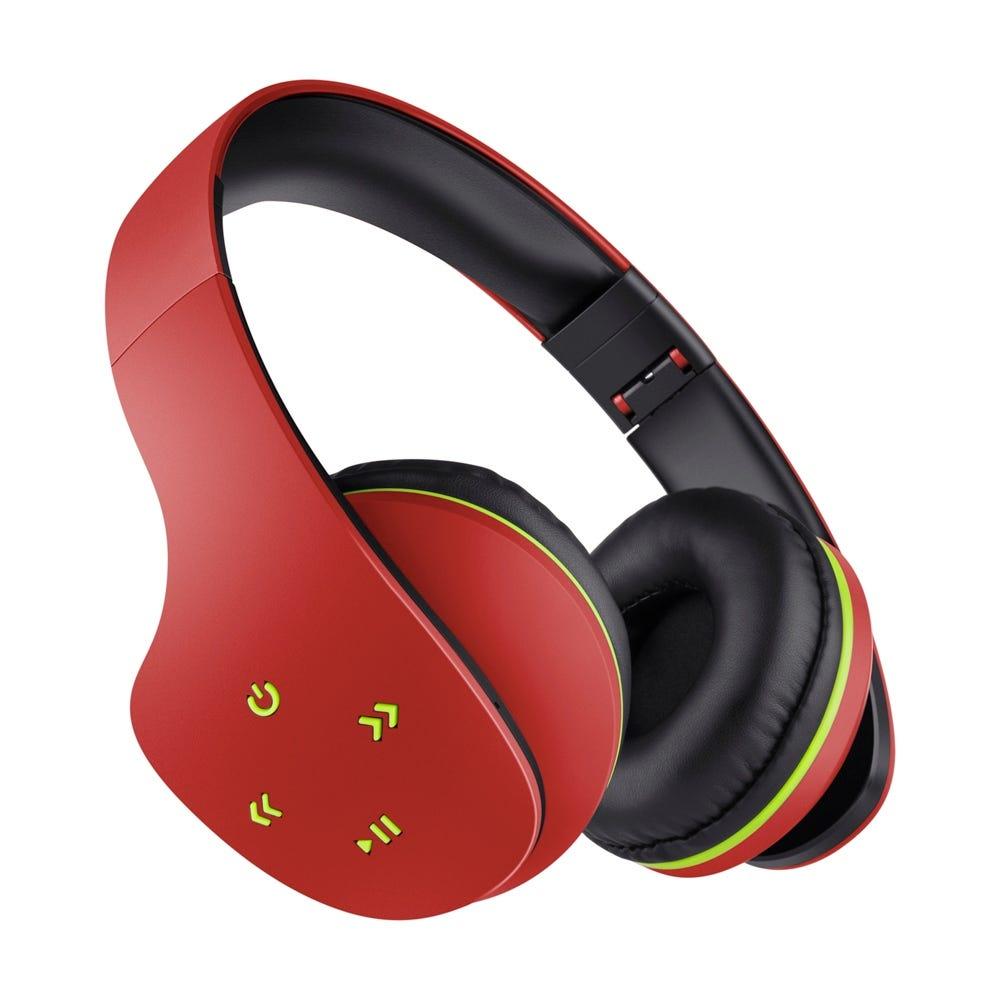 Audífonos inalámbricos de plástico Steren® Ultra Confort color rojo