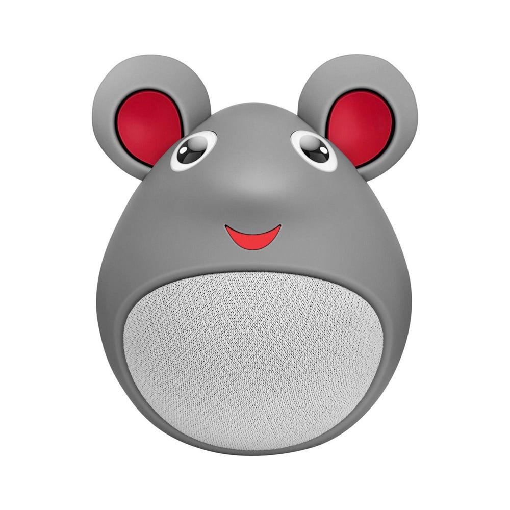 Bocina bluetooth de plástico Steren® Zoo con forma de ratón