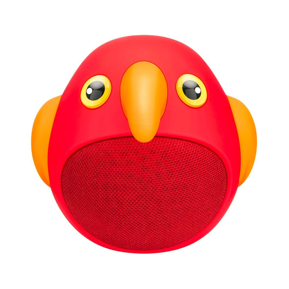 Bocina bluetooth de plástico Steren® Zoo con forma de ave