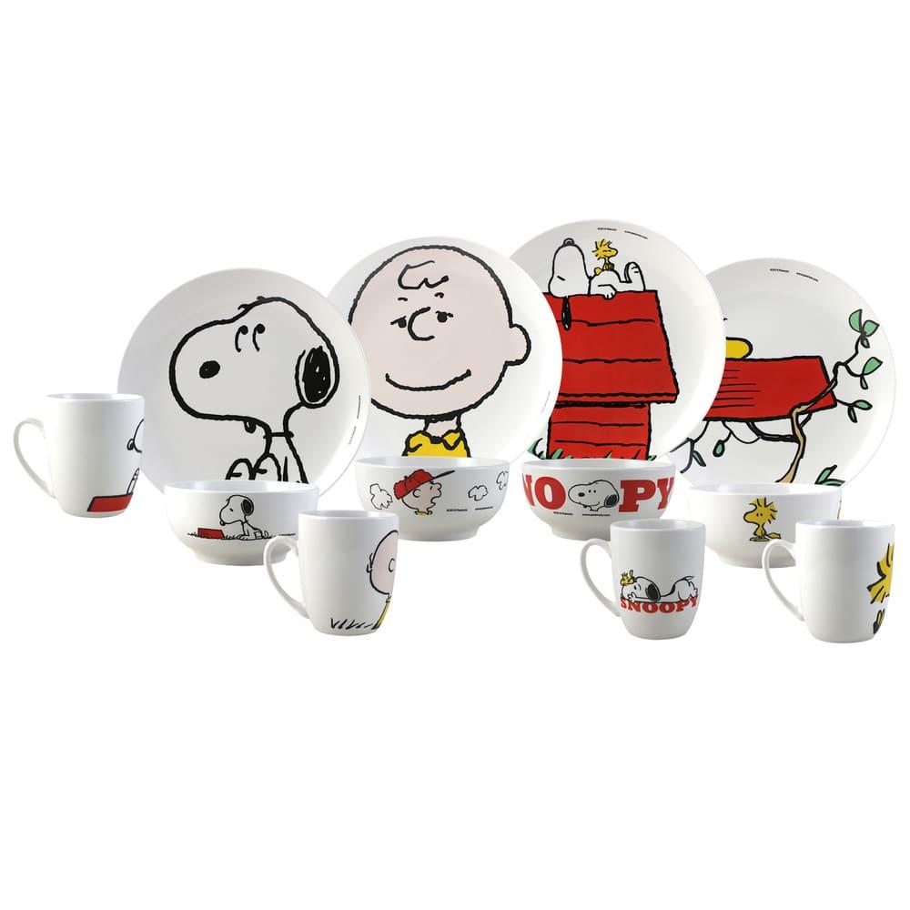 Vajilla de porcelana Fun Kids® Snoopy, Set de 12 piezas
