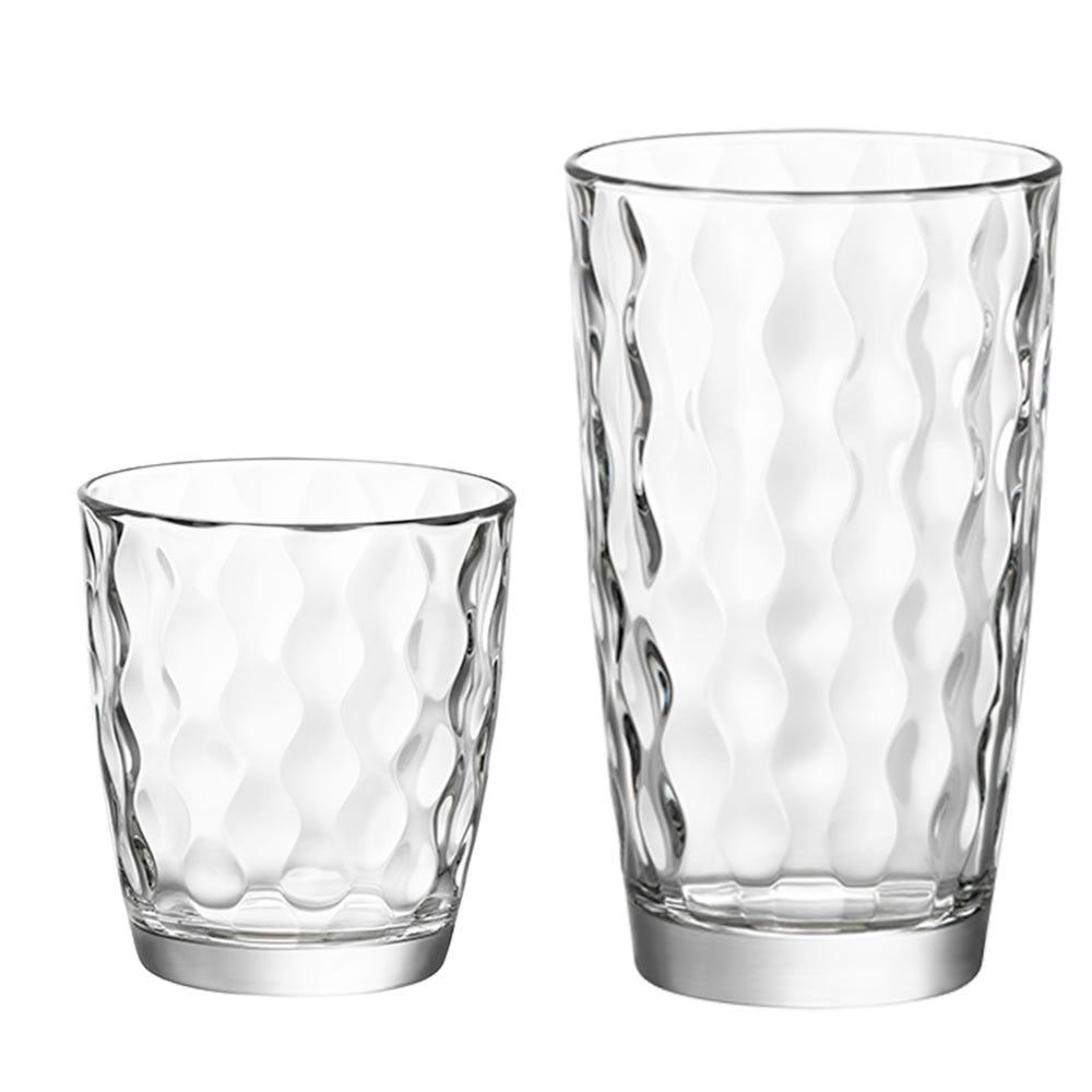 Vasos de vidrio Bormioli Rocco, Set de 16