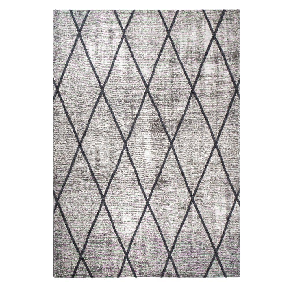 Tapete decorativo de polipropileno CasaMia® Cross color plata