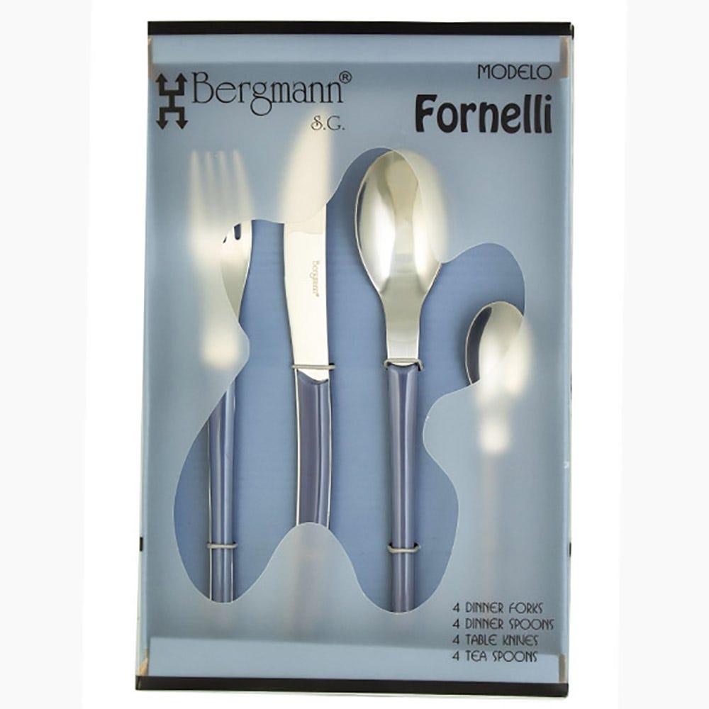 Juego de cubiertos Fornelli de acero inoxidable color gris