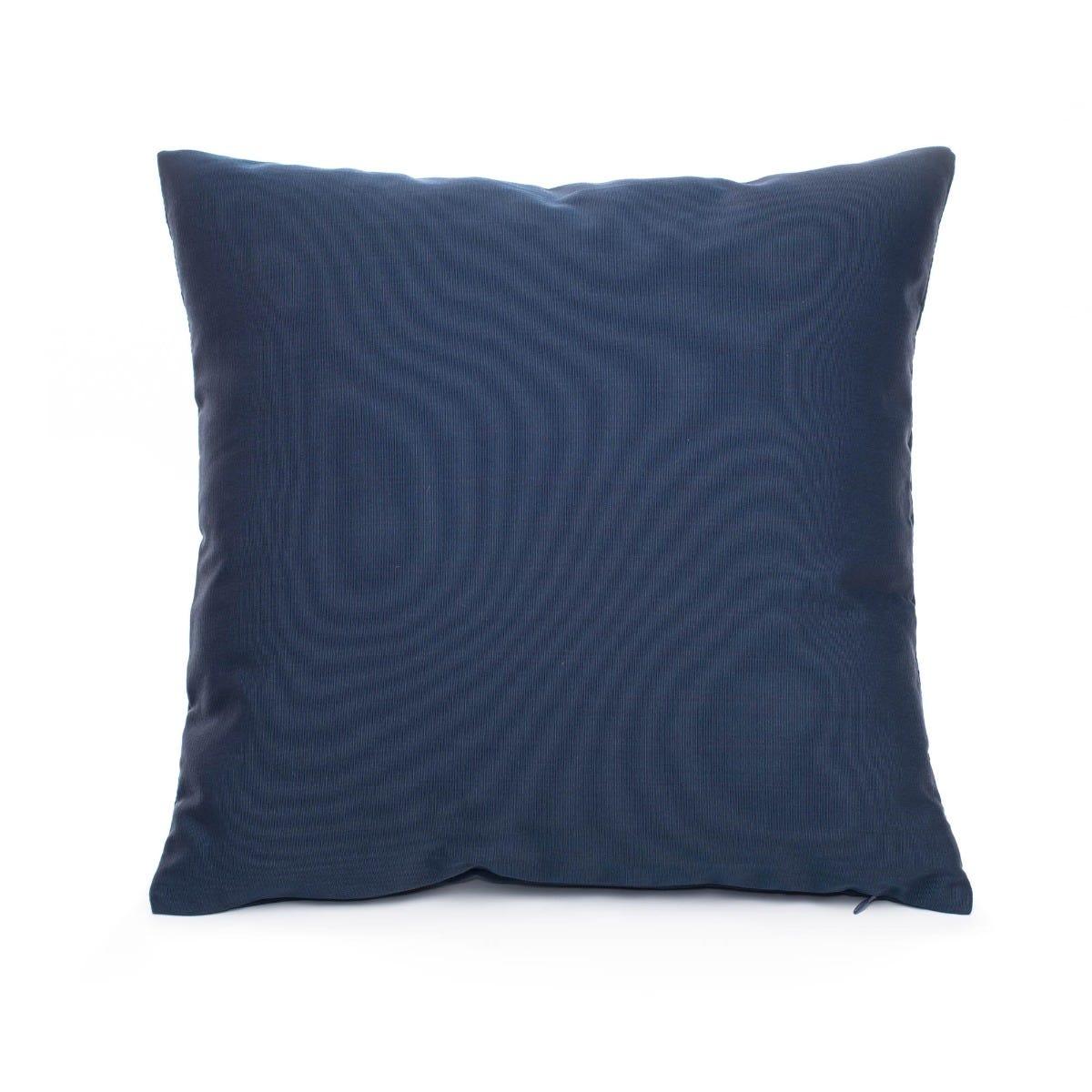 Cojín decorativo cuadrado de poliéster Saratoga® color azul marino