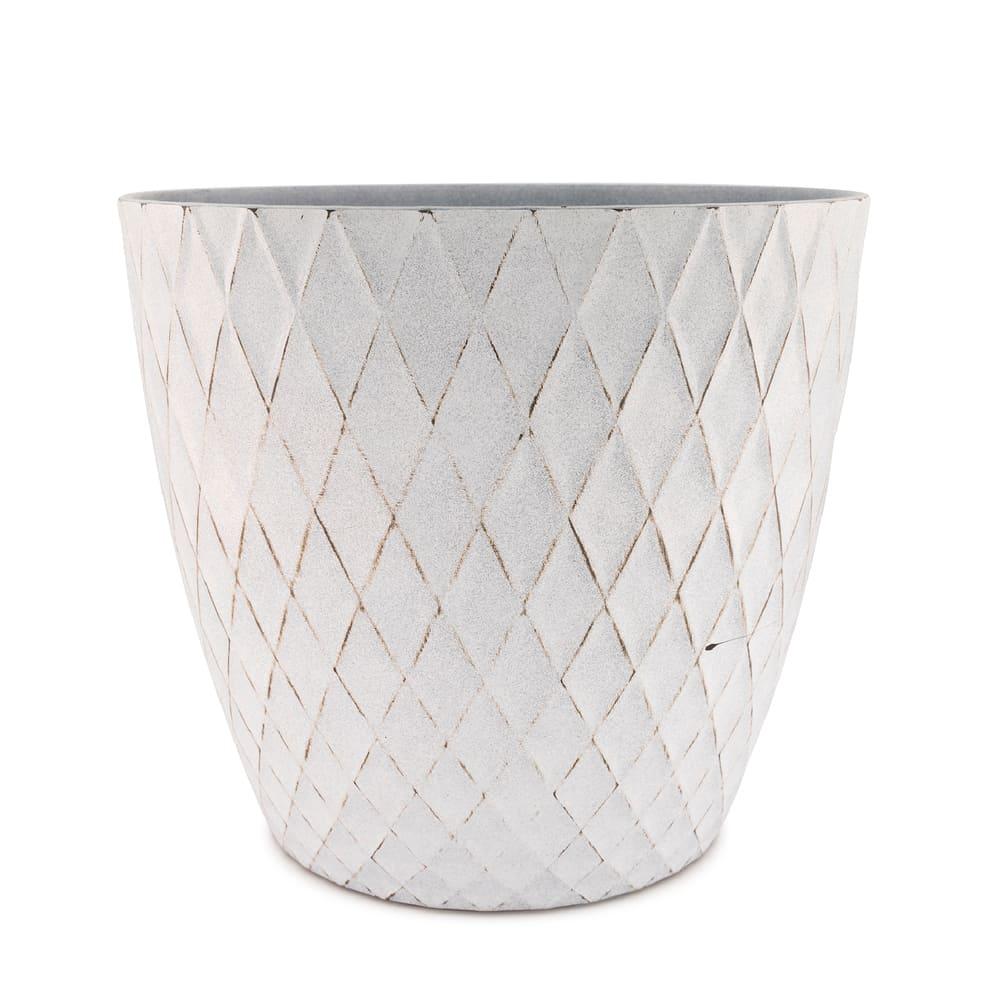 Maceta de plástico CasaMia® Mila color blanco